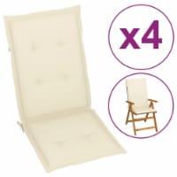 vidaXL Garden Chair Cushions 4 pcs Cream 47.2 x19.7 x1.6 - 4
