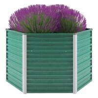 "vidaXL Garden Raised Bed Galvanized Steel 50.8 x50.8 x31.3  Green - 50.8"" x 50.8"" x 30.3"""