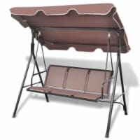 vidaXL Garden Swing Bench with Canopy Coffee - 178x112x155 cm
