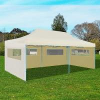 "vidaXL Cream Foldable Pop-up Party Tent 9'10 x19'8 - 118.1"" x 236.2"""