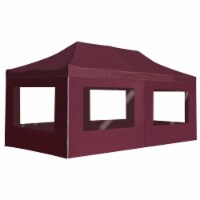 "vidaXL Professional Folding Party Tent with Walls Aluminium 236.2 x118.1  Wine Red - 226.4"" x 114.2"""
