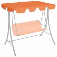vidaXL Replacement Canopy for Garden Swing Orange 74 /66.1 x43.3 /57.1 - 248 x 186 cm