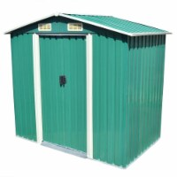 vidaXL Garden Storage Shed Green Metal 80.3 x52 x73.2 - 204x132x186 cm