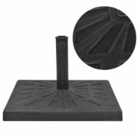 vidaXL Parasol Base Resin Square Black 41.9 lb - 51x51x32.5 cm
