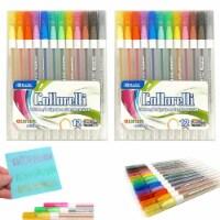 24 PK Glitter Colored Gel Pens Art Set School Sketch Drawing Adult Coloring Book - 1