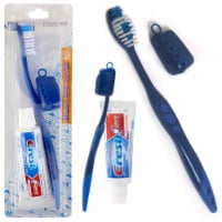 6 Packs Toothbrush Toothpaste Kit Travel Crest .85 oz Holder 3 Piece Set Compact - 1