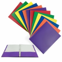 8 X Portfolio 2 Pockets Binder Document Folder Organizer 3 Prong Assorted Colors - 1