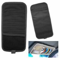 12 CD Car Sun Visor Storage Disc Capacity Dvd Holder Black Pocket Case Organizer - 1