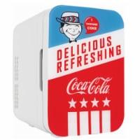 Cooluli Coca-Cola Americana 10 Liter Portable Compact Mini Fridge - 1