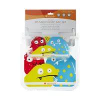 Full Circle Monster Reusable Kids Lunch Bag Set