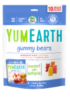 Yum Earth Organic Gummy Bears Snack Packs Variety Bag
