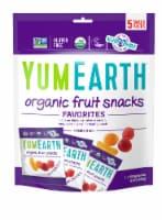 Yum Earth Organic Banana Cherry Peach & Strawberry Fruit Snacks