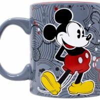 Mickey Mouse 802072 Mickey Mouse Circle Logos Pattern Jumbo Ceramic Mug - 20 oz - 1
