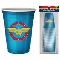 DC Comics Wonder Woman Logo 18oz Disposable Plastic Party Cups | 20 Pack - 1 Each