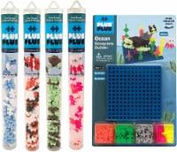 Plus-Plus - Tube & Basplate Building Toy Set Bundle - Ocean - each