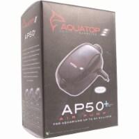 Aquatop Aquatic Supplies 003538 20-60 gal Single Outlet Aquarium Air Pump - Black - 1