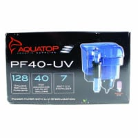 Aquatop Aquatic Supplies Hang On Filter With Uv Sterilizer 40 Gal PF40-UV - 1