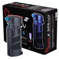 Aquatop Aquatic Supplies 003558 70-125 gph Submersible UV Filter, 5 watts - Black
