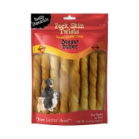 Savory Prime Treat  Pork Skin Twists Natural Smoked Flavor Beggar Bones
