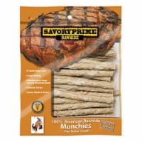 Savory Prime Munchy Dog Stix Medium Adult Rawhide Twists Natural 5 in. L 30 pk - Case Of: 1; - Count of: 1