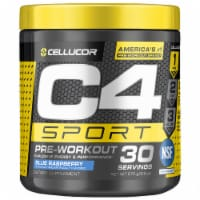 C4 Sport Blue Raspberry Pre-Workout Powder Supplement
