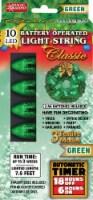 Magic Seasons Battery Operated Classic LED Light String - Green