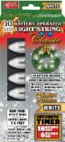 Magic Seasons Battery Operated Classic LED Light String - White