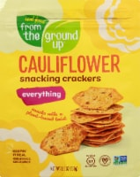 From The Ground Up Cauliflower Everything Snacking Crackers