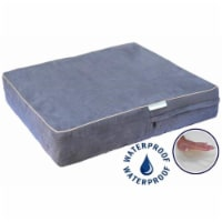 Go Pet Club CC-25 Solid Memory Foam Orthopedic Dog Pet Bed with Waterproof Cover  Charcoal - 1