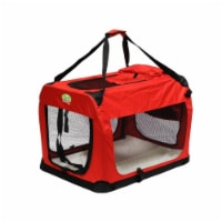 Go Pet Club CP-32 23.25 in. Foldable Pet Crate, Red - 1