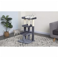 Go Pet Club F103 35 in. Classic Cat Tree Steps House with Sisal Covered Posts, Gray - 1