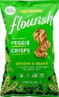 Popcorners Flourish Greens & Beans Lightly Salted Veggie Crisps 5 oz