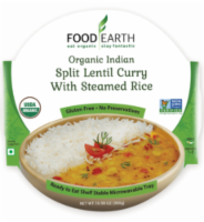 Food Earth Organic Indian Split Lentil Curry with Steamed Rice - 10.58 oz
