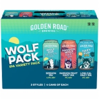 Golden Road Brewing Wolf Pack IPA Beer Variety Pack - 12 cans / 12 fl oz