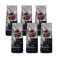 Brooklyn Beans Dark Roast Ground Coffee, Fuhgeddaboutit, six- 12 Ounce Bags(72 ounces total)