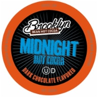 Brooklyn Beans Midnight Dark Chocolate Hot Cocoa Pods, Keurig K-Cups Brewer, 40 Count