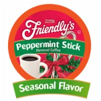 Friendly's Peppermint Flavored Coffee Pods for Keurig 2.0, Peppermint Stick, 40 Count - 40 Kcups