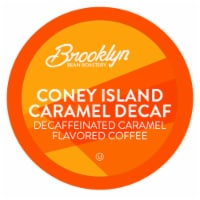 Brooklyn Beans Caramel Flavord DECAF Coffee Pods,  Coney Island Caramel, 40 Count