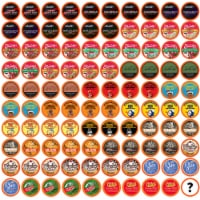 Two Rivers Coffee Mega Coffee Sampler Pods, Variety Sampler Pack, 100 Count - 100 Kcups