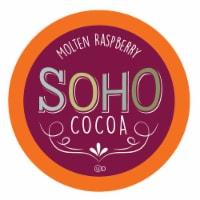 Soho Cocoa Molten Raspberry Hot Chocolate Pods for Keurig K-Cup Brewers 40 Count - 40 Kcups