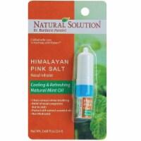 Natural Solution Nasal Inhaler, Aromatherapy Nasal Inhaler, Mint Essential Oils, 0.68 Oz