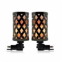 Himalayan Glow Salt Lamp, Metal Lattice, Wall Plug Night Light, 360o Rotatable Base | 2-Pack - 2 count