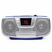 Riptunes Cd Boombox With Bluetooth, Blue - 1