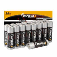 IMPECCA AA Batteries 16 Pack Alkaline High Performance, Long Lasting, and Leak Resistant LR6