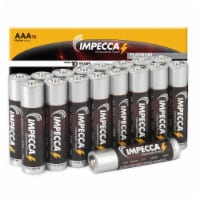IMPECCA AAA Batteries High Performance Alkaline Battery Long Lasting, and Leak Resistant, LR6