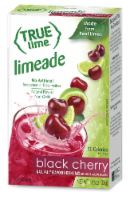 True Lime Black Cherry Limeade Drink Mix Packets