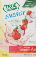True Lemon Energy Strawberry Dragonfruit Flavored Drink Mix Packets
