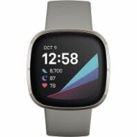 Fitbit FB512SRSG Sense Advanced Health Smartwatch - Silver - 1