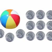 Jet Creations JC-D025 10 ft. Beach Ball & 12 Piece US Flying Coin US Quarter - 12