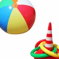 Jet Creations JC-D032 6 ft. Beach Ball & Traffic Cone Toss Game - 1